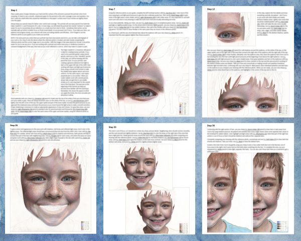 Portrait of a Child drawing tutorial collage
